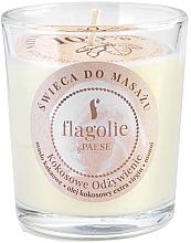 Parfémy, Parfumerie, kosmetika Masážní svíčka ve skle Vyživující kokos - Flagolie Coconut Nutrition Massage Candle