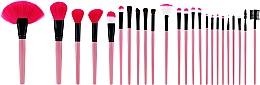 Parfémy, Parfumerie, kosmetika Sada profesionálních make-up štětců, růžová, 24 ks - Tools For Beauty