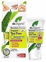 Parfémy, Parfumerie, kosmetika Zklidňující tělový krém Tea Tree - Dr. Organic Bioactive Skincare Tea Tree Cream