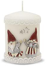 Parfémy, Parfumerie, kosmetika Dekorativní svíčka, bílá, 7x10 cm - Artman Dwarves