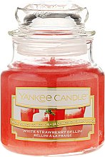 Parfémy, Parfumerie, kosmetika Vonná svíčka ve skle - Yankee Candle White Strawberry Bellini