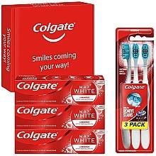 Parfémy, Parfumerie, kosmetika Sada - Colgate Box Max White Luminous (toothpaste/3x75ml + toothbrush/3pc)