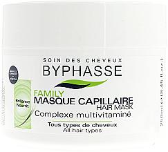 Parfémy, Parfumerie, kosmetika Maska pro všechny typy vlasů s multivitaminovým komplexem - Byphasse Family Multivitamin Complexe Mask