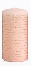 Parfémy, Parfumerie, kosmetika Dekorativní svíčka, růžově zlatá, 7x18 cm - Artman Andalo