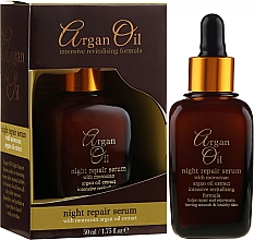 Parfémy, Parfumerie, kosmetika Noční regenerační sérum na obličej - Xpel Marketing Ltd Argan Oil Night Repair Serum