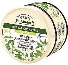 """Parfémy, Parfumerie, kosmetika Krém na obličej matující """"Zelený čaj"""" - Green Pharmacy Normalizing Matting Cream"""