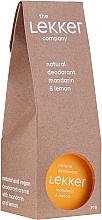 Parfémy, Parfumerie, kosmetika Přírodní deodorant Mandarinka a citron - The Lekker Company Natural Deodorant Mandarin & Lemon