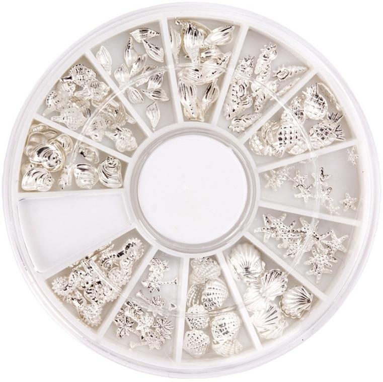 Ozdoba na nehty v kolotoči - Peggy Sage Carousel For Nail Decorations Summer Silver — foto N1