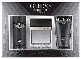 Parfémy, Parfumerie, kosmetika Guess Seductive Homme - Sada (Edt/100 + deo/spray/226ml + sh/gel/200ml)