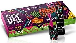 Parfémy, Parfumerie, kosmetika Sada - Silcare Flexy Ale Meksyk Hybrid Gel Set (nail/polish/10x4.5g)