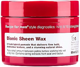 Parfémy, Parfumerie, kosmetika Vosk pro lesk vlasů - Recipe for Men Bionic Sheen Wax
