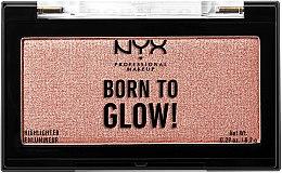 Parfémy, Parfumerie, kosmetika Rozjasňovač na obličej - NYX Professional Makeup Born To Glow Highlighter