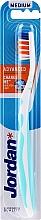 Parfémy, Parfumerie, kosmetika Zubní kartáček střední Advanced, modrý - Jordan Advanced Medium