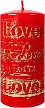 Parfémy, Parfumerie, kosmetika Dekorativní svíčka červená, 7x14cm - Artman Lovely
