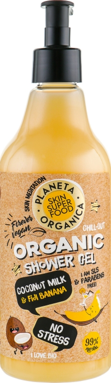 Sprchový gel - Planeta Organica No Stress Skin Super Food Shower Gel Coconut Milk & Fiji Banana — foto N1