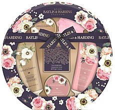 Parfémy, Parfumerie, kosmetika Sada - Baylis & Harding Royale Garden (sh/cr/130ml + b/wash/130ml + b/butter/100ml + soap/150g + b/krystals/100g + sponge/1)