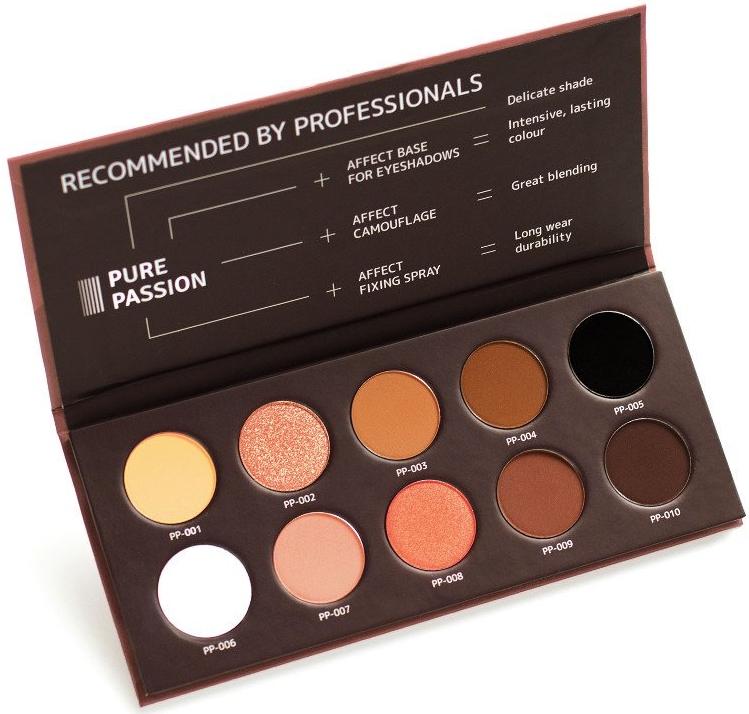 Lisovaná paleta očních stínů - Affect Cosmetics Pure Passion Eyeshadow Palette