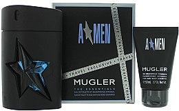 Parfémy, Parfumerie, kosmetika Mugler A Men - Sada (edt/100 + sh/g/50)