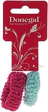 Parfémy, Parfumerie, kosmetika Gumičky na vlasy 2ks, růžová a mátová - Donegal Ponytail Holder Woolly