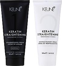 Parfémy, Parfumerie, kosmetika Léčivý systém pro keratinové narovnání vlasů - Keune Keratin Straightening Rebonding System Normal