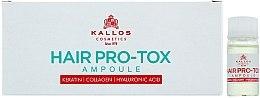 Parfémy, Parfumerie, kosmetika Ampule pro slabé a poškozené vlasy - Kallos Cosmetics Pro-Tox Hair Ampoule