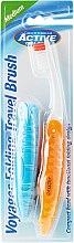Parfémy, Parfumerie, kosmetika Zubní kartáček, cestovní, oranžový - Beauty Formulas Voyager Active Folding Dustproof Travel Toothbrush Medium