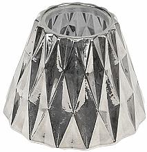 Parfémy, Parfumerie, kosmetika Svícen pro střední svíčku - WoodWick Geometric Silver Shade