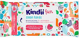 Parfémy, Parfumerie, kosmetika Antibakteriální osvěžující ubrousky - Kindii Fun Kids Care