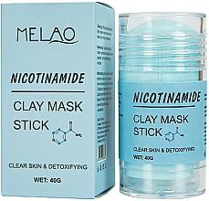 """Parfémy, Parfumerie, kosmetika Maska na obličej """"Nicotinamide"""" - Melao Nicotinamide Clay Mask Stick"""