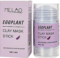 """Parfémy, Parfumerie, kosmetika Maska na obličej """"Eggplant"""" - Melao Eggplant Clay Mask Stick"""