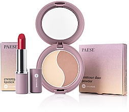 Parfémy, Parfumerie, kosmetika Sada - Paese Nanorevit (f/powder/4.5g + lipstick/4/3g)