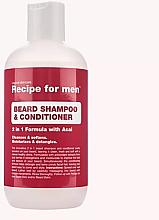 Parfémy, Parfumerie, kosmetika Šampon a kondicionér 2v1 na bradu - Recipe for Men Beard Shampoo & Conditioner