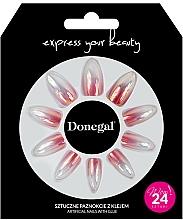 Parfémy, Parfumerie, kosmetika Sada umělých nehtů s lepidlem, 3061 - Donegal Express Your Beauty