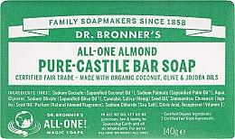 Parfémy, Parfumerie, kosmetika Mýdlo Mandle - Dr. Bronner's Pure Castile Bar Soap Almond