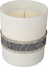 Parfémy, Parfumerie, kosmetika Vonná svíčka černá/šedá, 8x9,5cm - Artman Crystal Glass