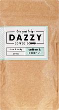 Parfémy, Parfumerie, kosmetika Kávový peeling na obličej a tělo Káva a kokos - Dazzy Coffee Face & Body Scrub Coffee & Cocos