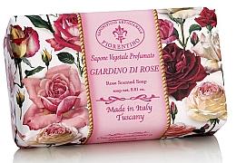 Parfémy, Parfumerie, kosmetika Prírodní mýdlo Růžový sad - Saponificio Artigianale Fiorentino Rose Garden Scented Soap