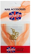 Parfémy, Parfumerie, kosmetika Řetězec na ozdobu nehtů, 00375, zlatý - Ronney Professional