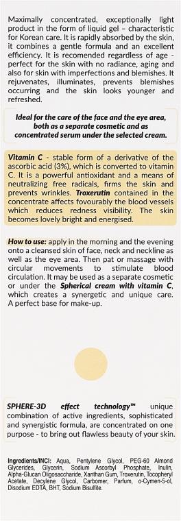 Koncentrované sérum s vitamínem C - Floslek Skin Care Expert Sphere-3D Concentrate Serum With Vitamin C — foto N3