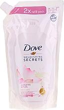 Parfémy, Parfumerie, kosmetika Tekuté mýdlo Lotus flower - Dove Nourishing Secrets Glowing Ritual Hand Wash (doypack)