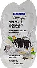 "Parfémy, Parfumerie, kosmetika Bahenní maska na obličej ""Uhlí, černý cukr"" - Freeman Feeling Beautiful Charcoal & Black Sugar Mud Mask (mini)"