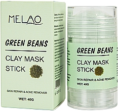 "Parfémy, Parfumerie, kosmetika Maska na obličej ""Green Beans"" - Melao Green Beans Clay Mask Stick"