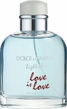 Parfémy, Parfumerie, kosmetika Dolce & Gabbana Light Blue Love is Love Pour Homme - Toaletní voda