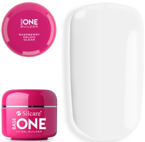 Gel na nehty - Silcare Base One UV Gel Builder Clear Raspberry Melon