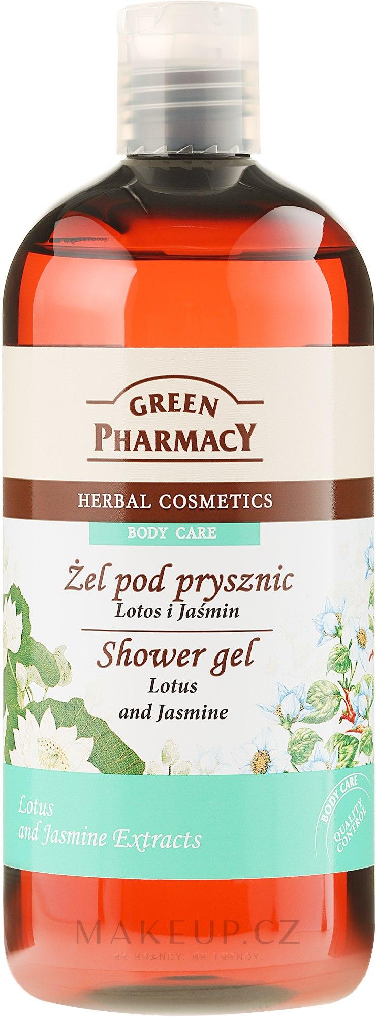 Sprchový gel Lotos a jasmín - Green Pharmacy Shower Gel Lotus and Jasmine — foto 500 ml
