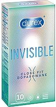 Parfémy, Parfumerie, kosmetika Těsně přiléhající kondomy, 10ks - Durex Invisible Close Fit