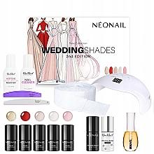 Parfémy, Parfumerie, kosmetika Sada - Neonail Professional Wedding Shades Set (n/polish/5x3ml + n/base/7.2ml + n/top/7.2ml + lamp/1pc + n/cleaner/50ml + n/remover/50ml + n/pads/250pcs + nail/file/2pcs + n/oil/15ml)