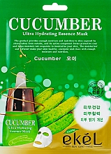 Parfémy, Parfumerie, kosmetika Látková pleťová maska s okurkovým extraktem - Ekel Cucumber Ultra Hydrating Essence Mask