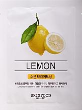 Parfémy, Parfumerie, kosmetika Pleťová maska - SkinFood Beauty in a Food Mask Sheet Lemon