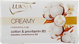 Parfémy, Parfumerie, kosmetika Krém mýdlo s bavlněným mlékem a provitamínem B5 - Luksja Cotton Milk Provitamin B5 Soap